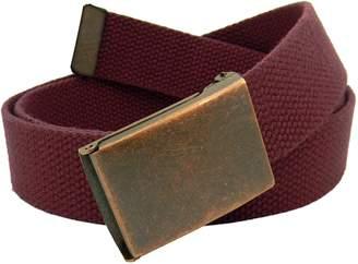 Build A Belt Boy's School Uniform Antique Copper Flip Top Belt Buckle with Canvas Web Belt Small