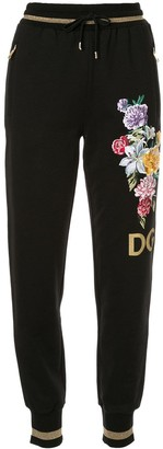 Dolce & Gabbana floral embroidered track pants