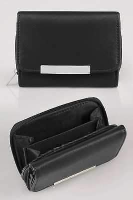 Yours Clothing Women's Zip Around Purse With Metal Bar Trim