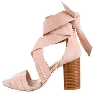 Raye For Love & Lemons x Suede Lace-Up Sandals