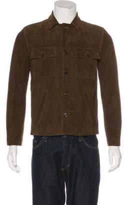 Saint Laurent Suede Button-Up Jacket
