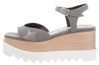 Stella McCartney Platform Denim Wedges w/ Tags