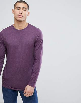 Asos Design DESIGN longline crew neck t-shirt with long sleeves