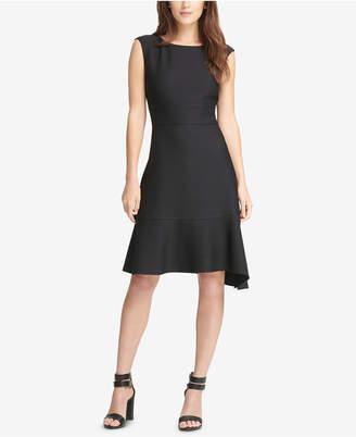 DKNY Asymmetrical A-Line Dress