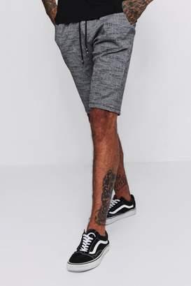 boohoo Flecked Smart Jogger Shorts