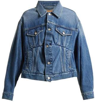 Balenciaga Swing Denim Jacket - Womens - Denim