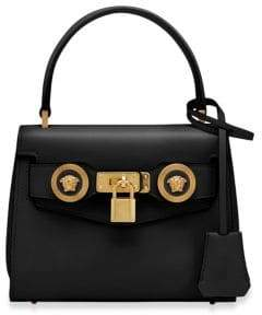 Versace Small Icon Leather Top Handle Bag