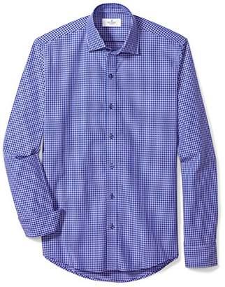 Buttoned Down Men's Slim Fit Supima Cotton Spread-Collar Pattern Sport Shirt