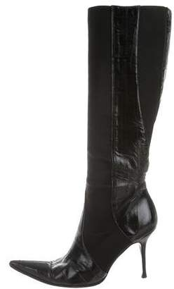 Dolce & Gabbana Eelskin Knee-High Boots