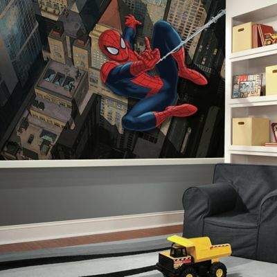 Ultimate Spiderman XL Chair Rail Prepasted 10.5-Foot x 6-Foot Mural