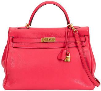 One Kings Lane Vintage HermAs 35cm Rose Jaipur Kelly Bag - Vintage Lux