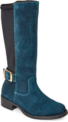 Lyard (Kids Girls) Teal Blue Haizea Stretch-Back Riding Boots
