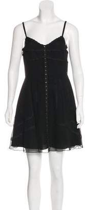 Anna Sui Lace Trim Sleeveless Dress