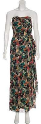 Anna Sui Printed Maxi Dress Black Printed Maxi Dress