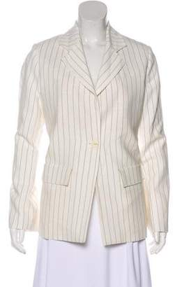 Studio Nicholson Striped Button-Up Blazer
