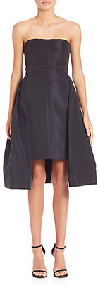 Vera Wang Strapless Overlay Pencil Dress $1,395 thestylecure.com