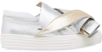 N°21 Laminated Leather Slip-On Sneakers