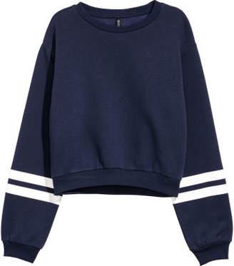 H&M Short Sweatshirt - Blue