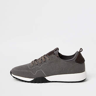 River Island Grey suede runner sneakers