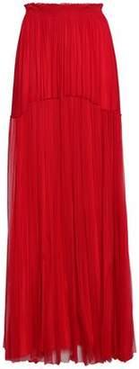 Amanda Wakeley Tiered Silk-mesh Maxi Skirt