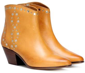 Isabel Marant Dacken studded leather ankle boots