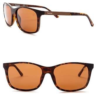 Timberland Men's 56mm Polarized Squared Sunglasses