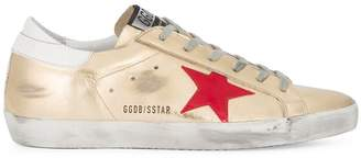 Golden Goose Gold Superstar Leather sneakers