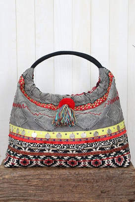 Love Stitch Lovestitch Striped Hobo Bag