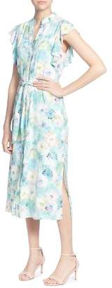 Catherine Malandrino Fredda Watercolor Floral Midi Dress