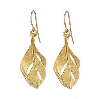 Fly London Chupi - I Can Midi Swan Feather Earrings Gold