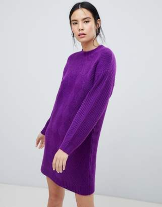 Asos DESIGN moving rib sweater dress
