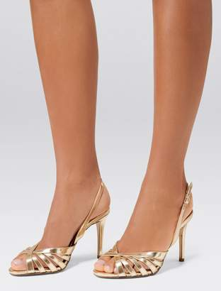 Forever New Lydia Caged Vamp Stiletto - Gold - 37