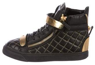 Giuseppe Zanotti Quilted Wedge Sneakers