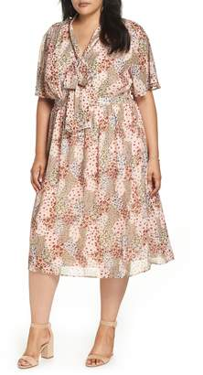 1901 Tie Neck Floral Dress