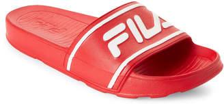Fila Red & White Sleek Slide Sandals