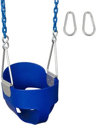Swing Set Stuff Highback Full Bucket Swing Seat with Coated Chain