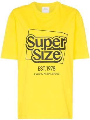 Calvin Klein Jeans Est. 1978 supersize me logo cotton T-shirt