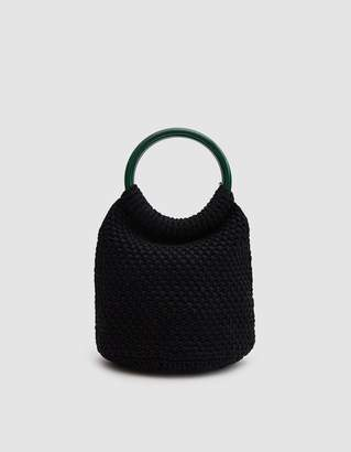 Rachel Comey Praia Hand Crochet Bucket in Black