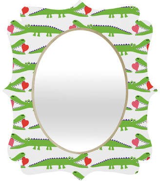 Deny Designs Andi Bird Alligator Love Quatrefoil Mirror