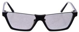 Celine Mirrored Cut-Off Sunglasses