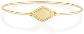 Prive Jemma Wynne Personalized Hexagon Bangle with Diamonds