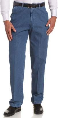 Haggar Men's Big-Tall No Iron Denim Plain Front Pant
