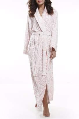 Pierre Cardin Damask Fleece Gown