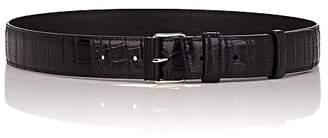 Altuzarra Women's Crocodile-Stamped Leather Belt