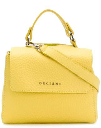 Orciani small pebbled leather shoulder bag