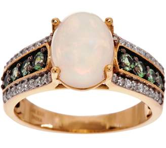 Ethiopian Opal & Alexandrite Ring, 14K Gold 0.35 cttw