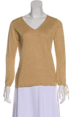 Tibi Metallic Knit Top
