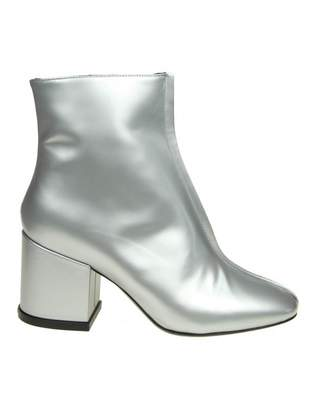 "Kenzo daria"" Ankle Boot In Silver Color Leather"
