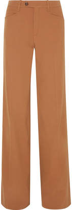 Chloé Wool-blend Twill Wide-leg Pants - Tan