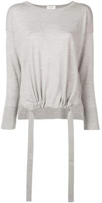 Zanone elasticated hem jumper